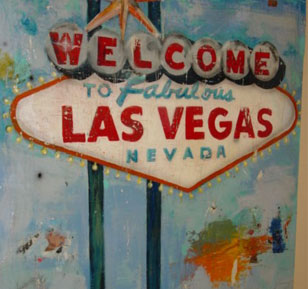 Greg Miller - Las Vegas - 54 x 60 - Mixed Media On Wood